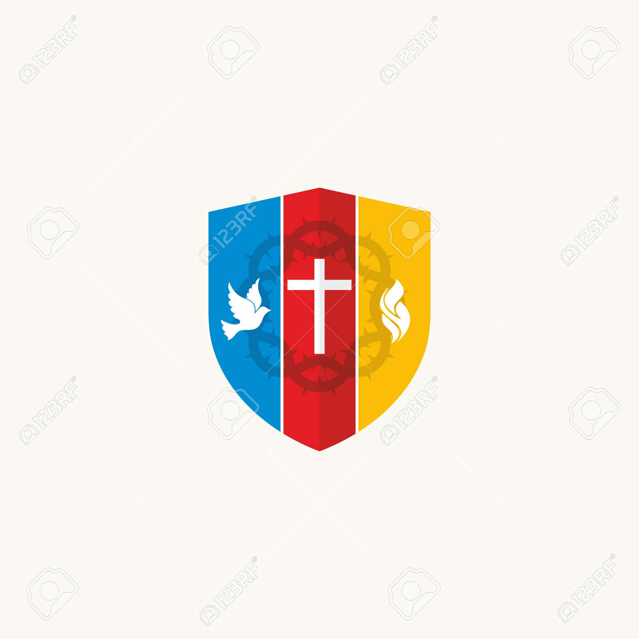 Church logo the cross a dove and flames royalty free cliparts church logo the cross a dove and flames stock vector 47998723 thecheapjerseys Gallery