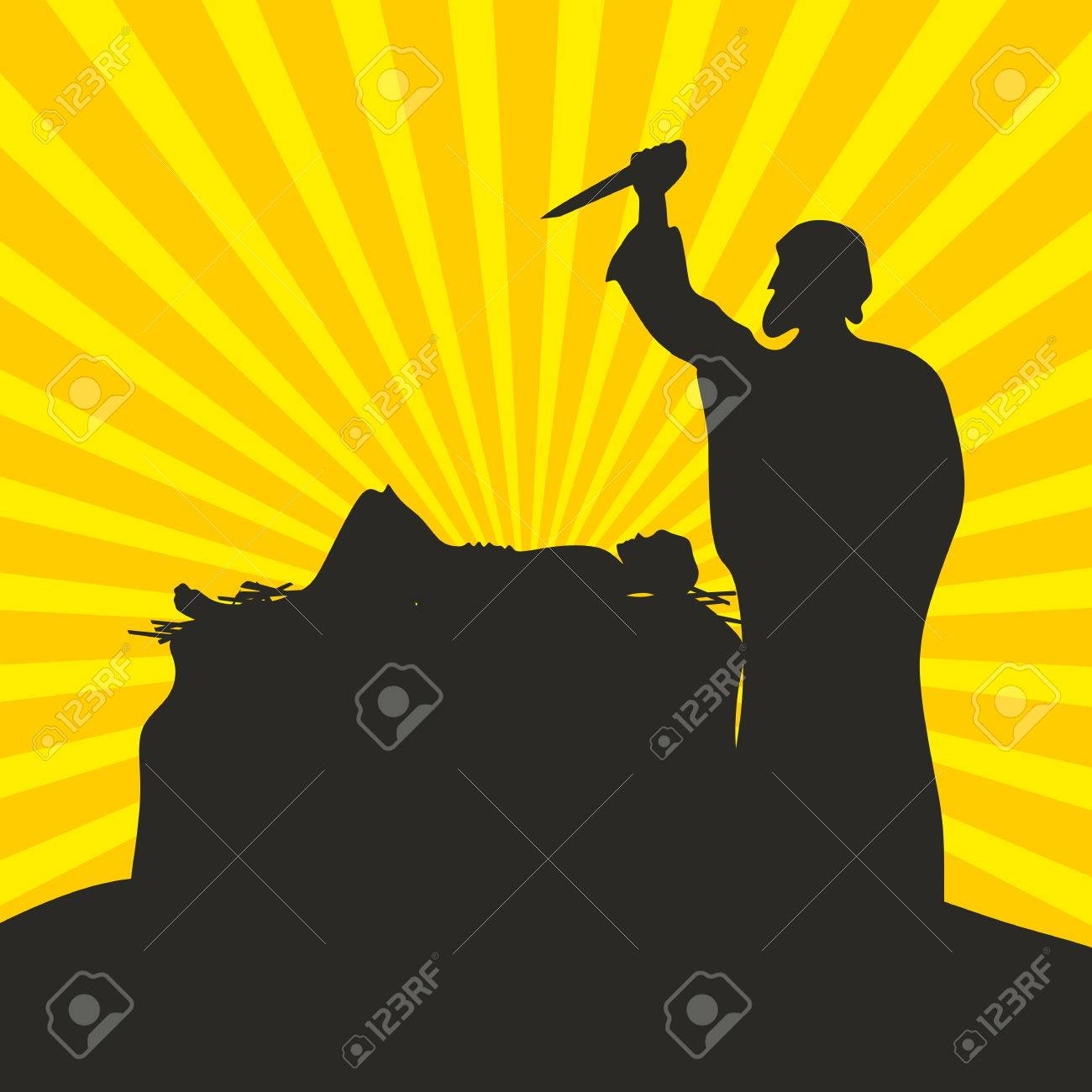 Abraham and Isaac. Scene of sacrifice - 50502810