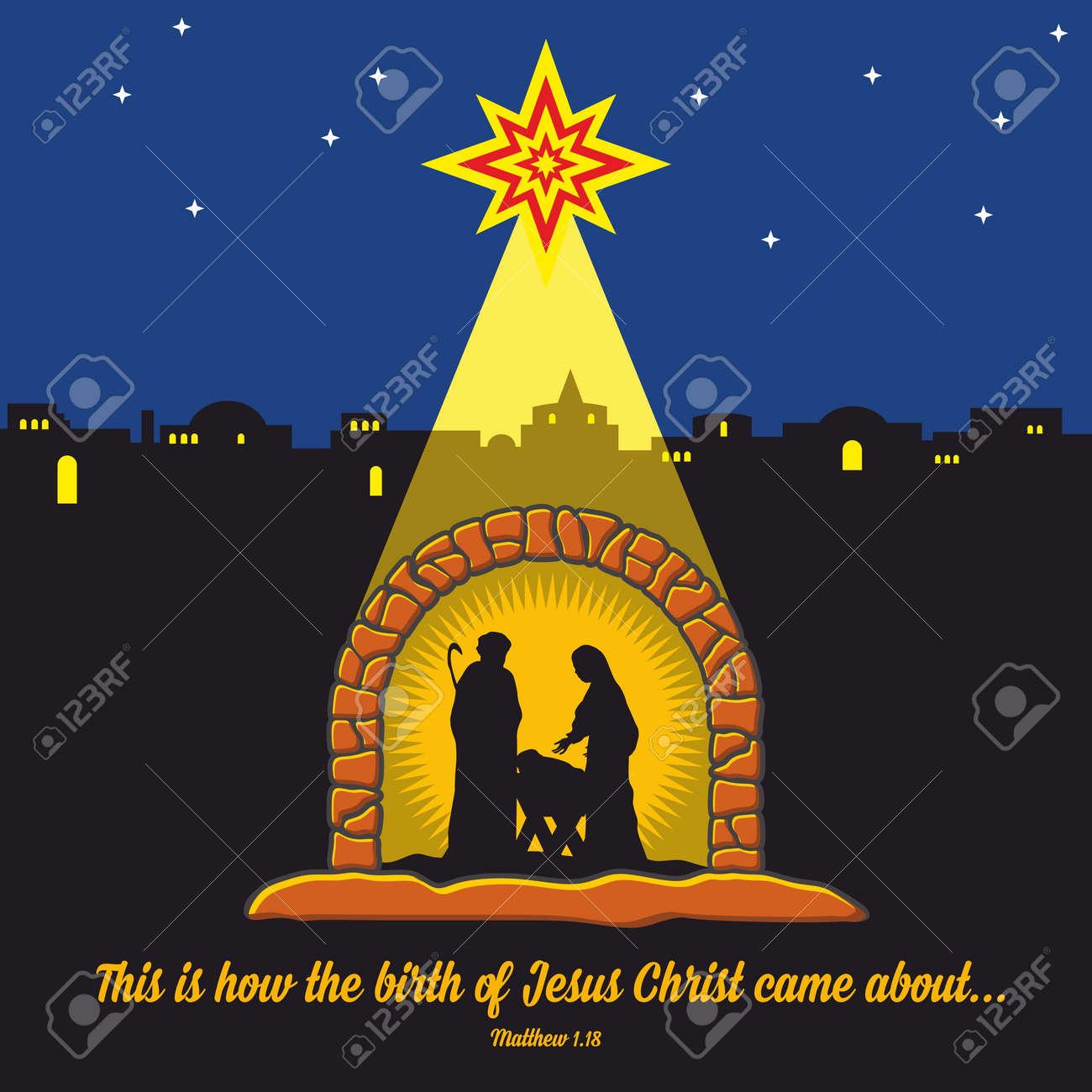 Immagini Nativita Natale.Scena Della Nativita Natale Betlemme Maria Giuseppe E Gesu Piccola