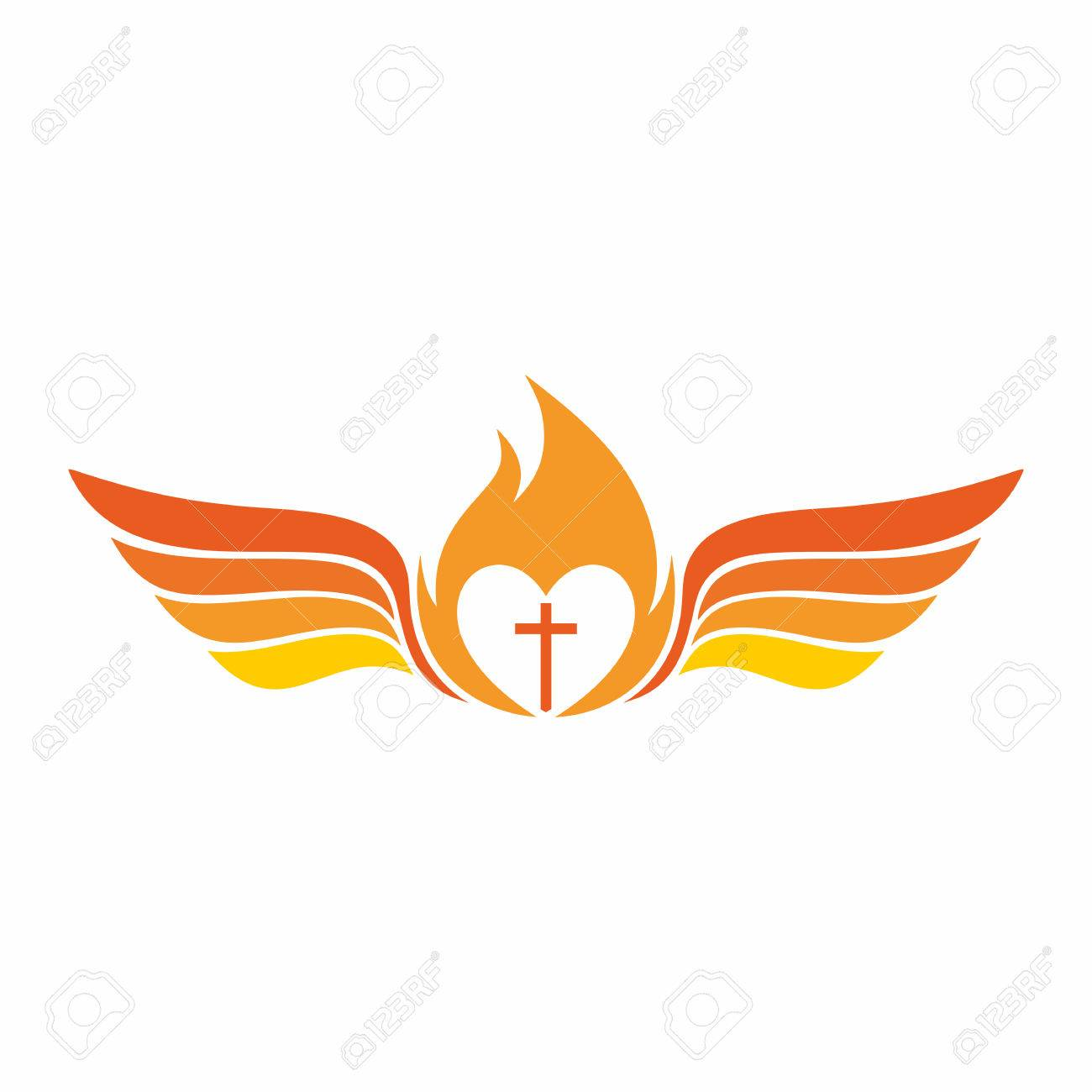 church the cross of jesus christ the flame of the holy spirit