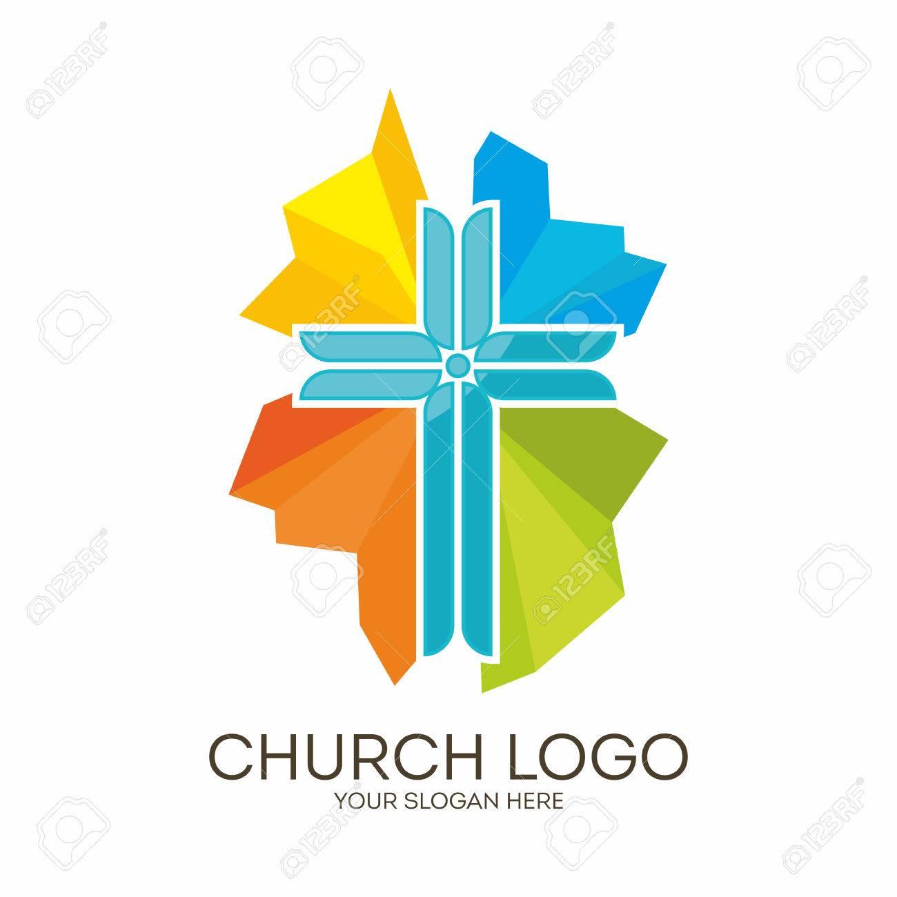 Iglesia. Símbolos Cristianos. Colorear La Cruz De Jesús ...