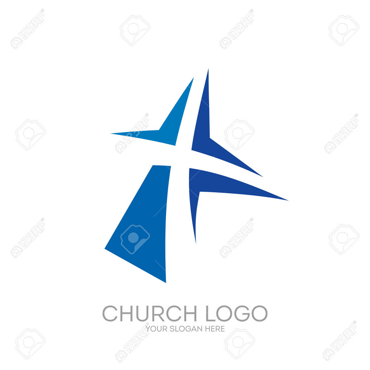 Church logo christian symbols the cross of jesus christ royalty church logo christian symbols the cross of jesus christ stock vector 65715343 buycottarizona Image collections