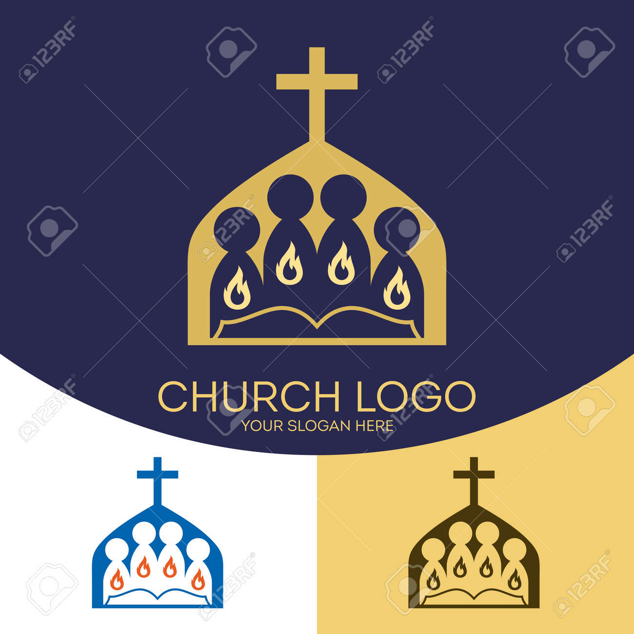 Church Logo Christian Symbols The Gathering Of The Saints In