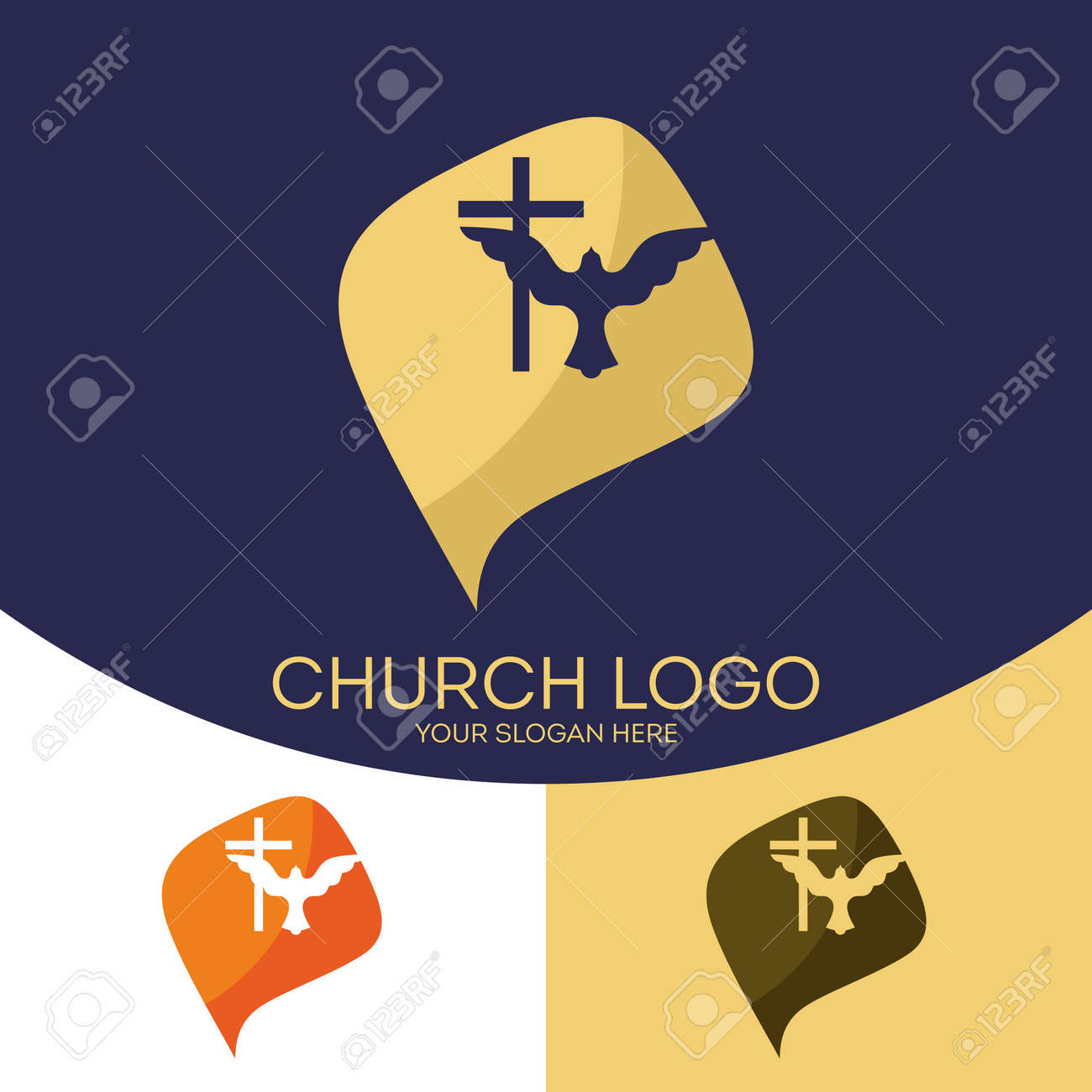 Church Logo Christian Symbols The Cross Of Jesus Christ The
