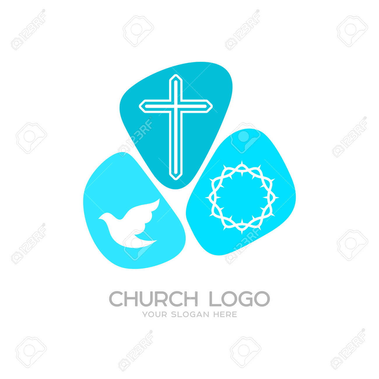 Church Logo Christian Symbols The Cross Of Jesus Christ A