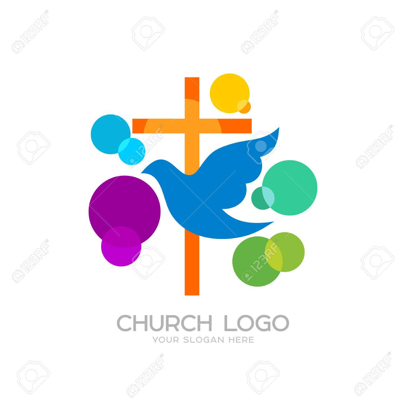 Church logo cristian symbols the cross of jesus and the dove church logo cristian symbols the cross of jesus and the dove colored circles altavistaventures Choice Image