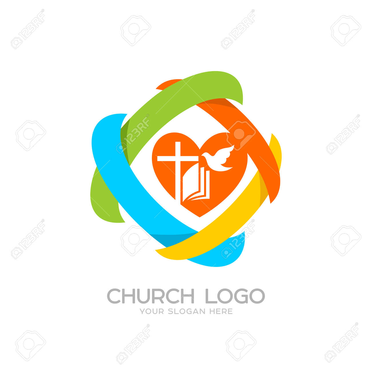 Church logo cristian symbols jesus cross bible dove heart church logo cristian symbols jesus cross bible dove heart and colored altavistaventures Images
