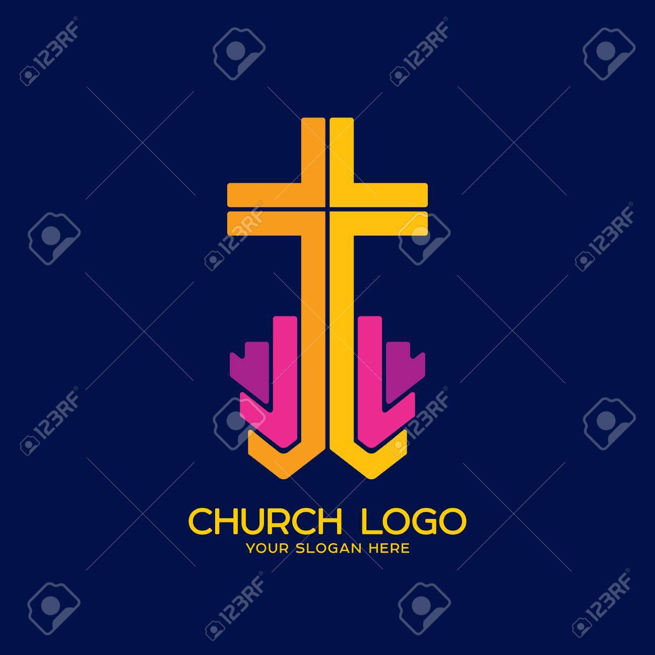 Church logo christian symbols cross of the savior jesus christ church logo christian symbols cross of the savior jesus christ stock vector 81890636 buycottarizona Image collections