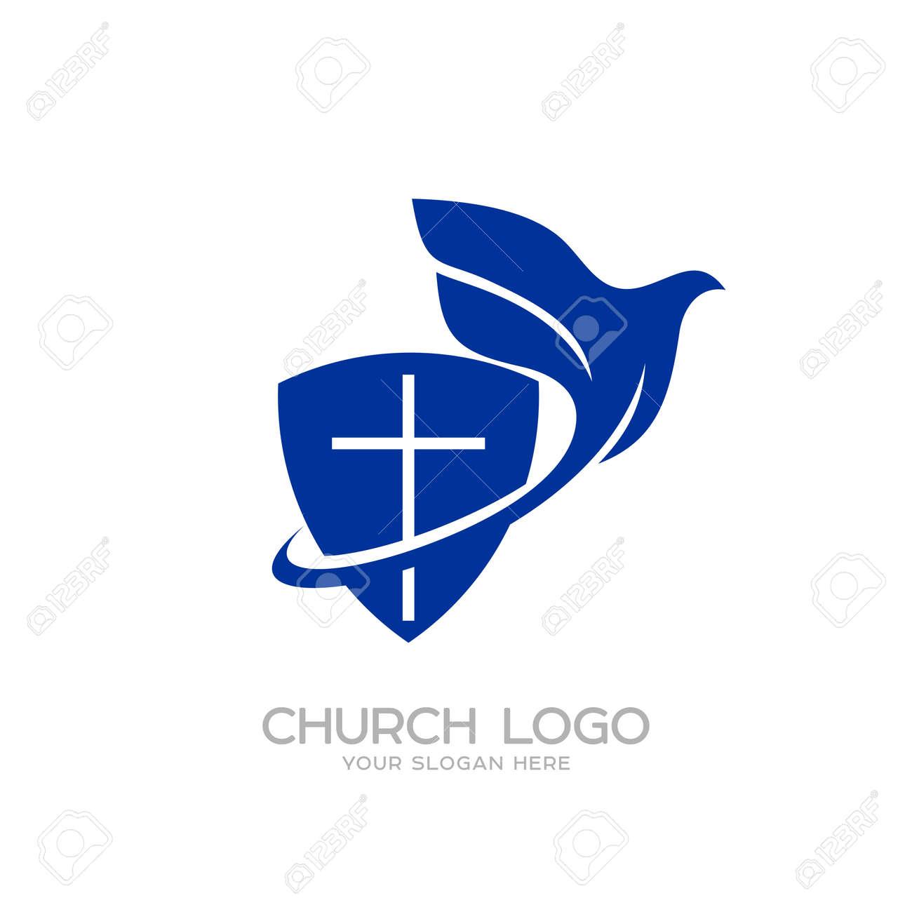 Church Logo Christian Symbols The Shield Of Faith And The Holy