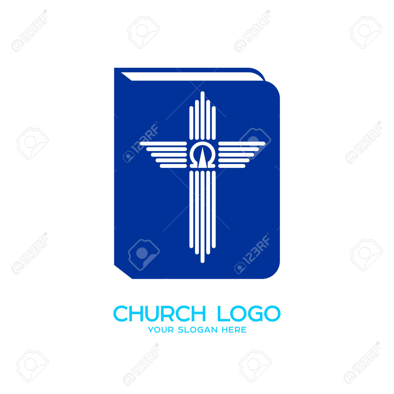 Church Logo Christian Symbols The Bible The Cross And The