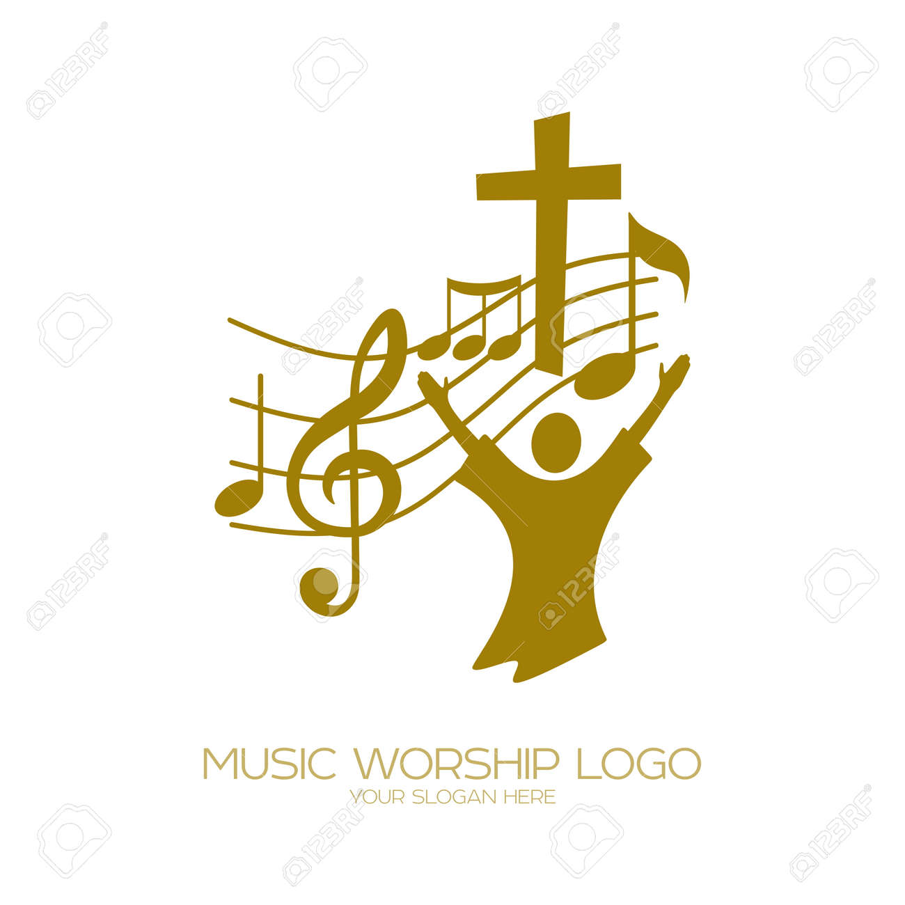Music christian symbols the believer worships jesus christ music christian symbols the believer worships jesus christ sings the glory to god stock buycottarizona Image collections