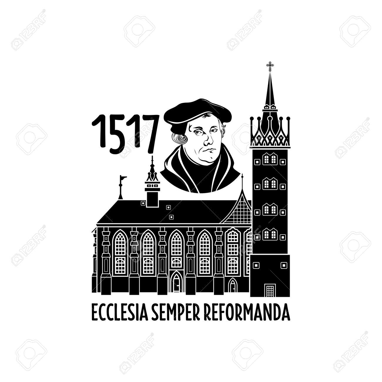 Martin Luther. 95 theses of the reformation of the church. Wittenberg 1517. - 166673456