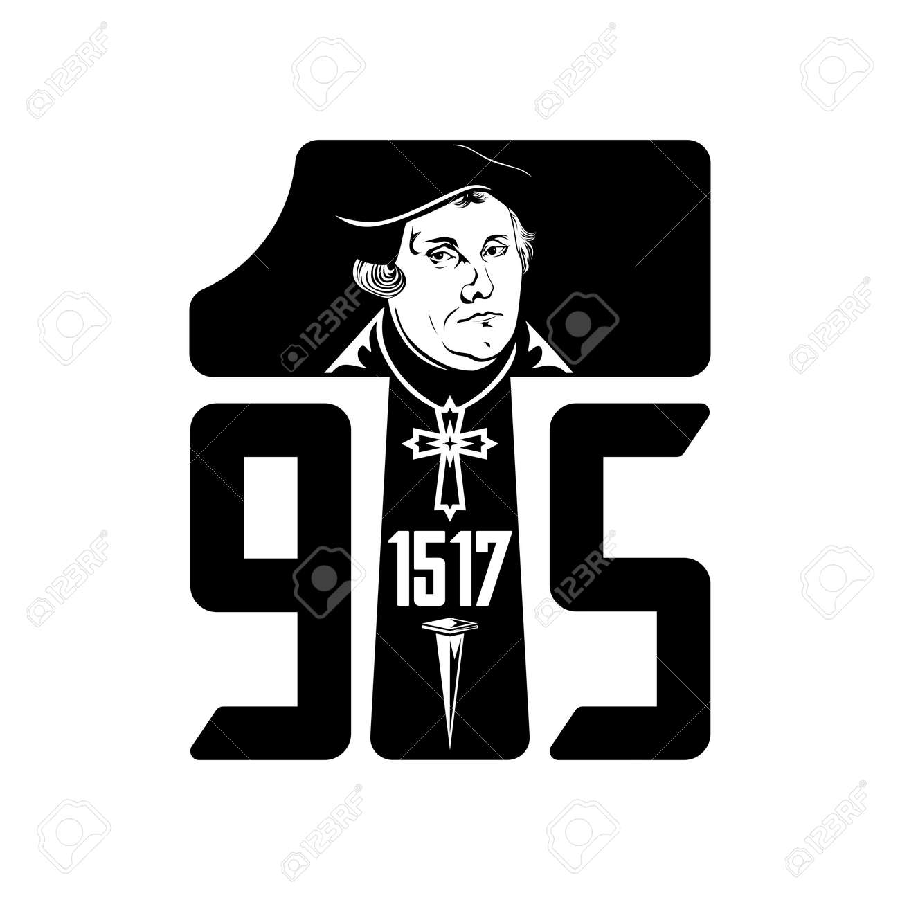 Martin Luther. 95 theses of the reformation of the church. Wittenberg 1517. - 166673460