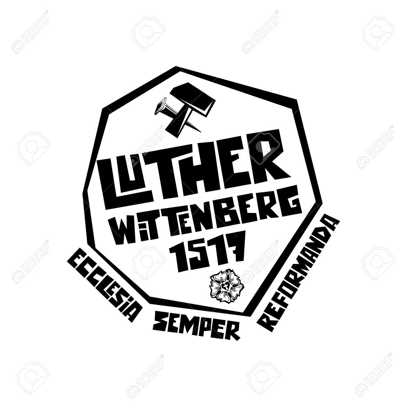 Martin Luther. 95 theses of the reformation of the church. Wittenberg 1517. - 166673464