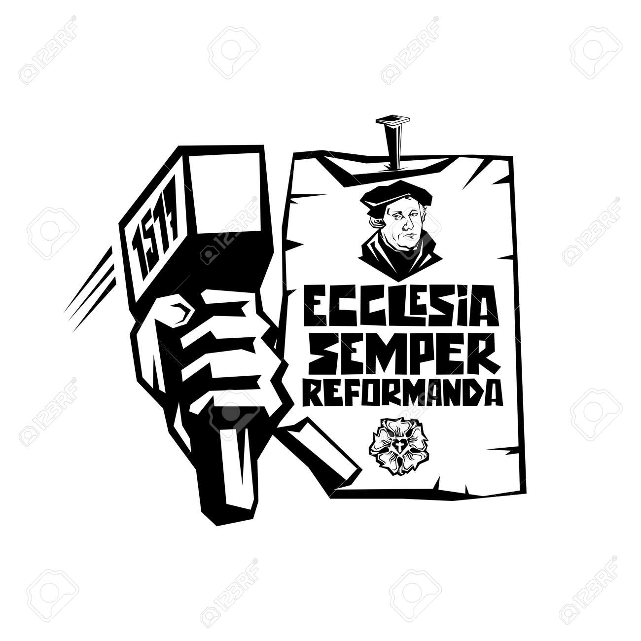Martin Luther. 95 theses of the reformation of the church. Wittenberg 1517. - 166673466