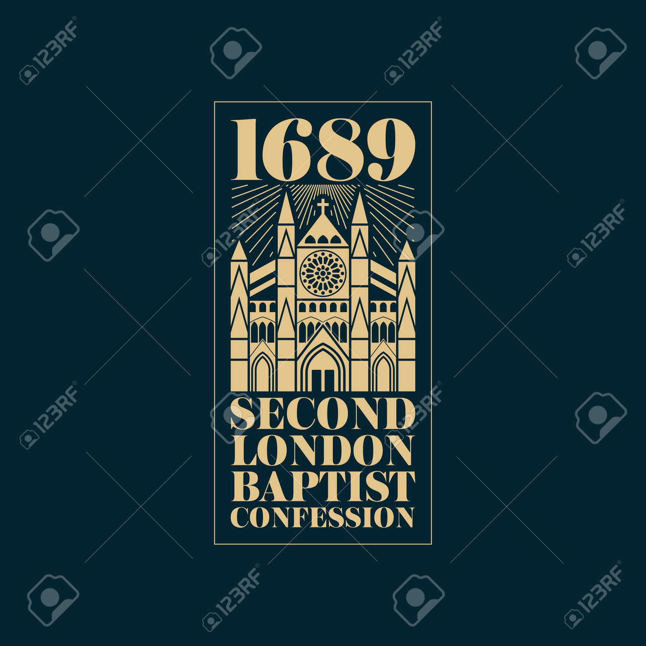 Reformed christian art. The 1689 Baptist Confession of Faith. - 166913166