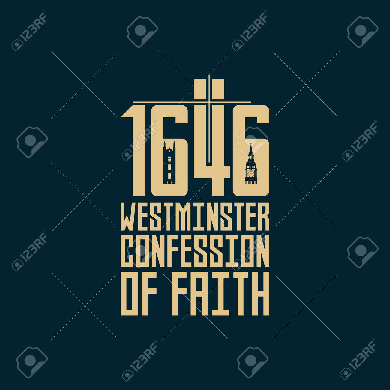 Reformed christian art. 1646 The Westminster Confession of Faith. - 166911204