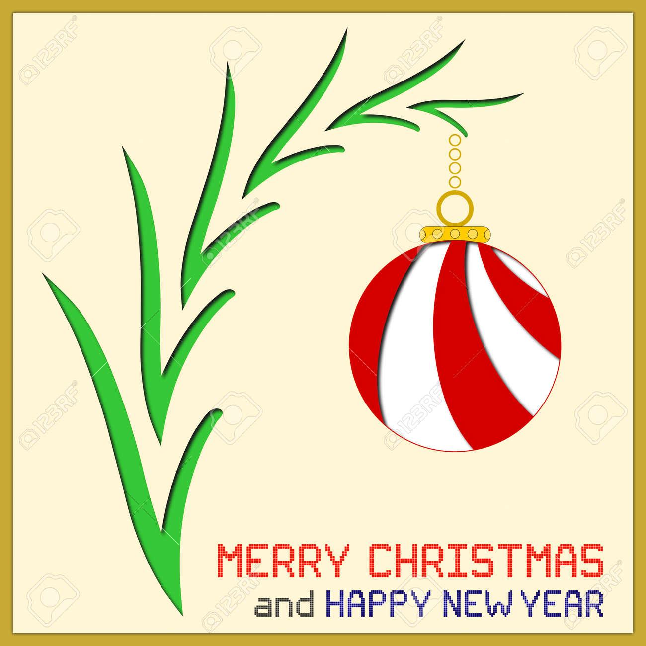 Eine Illustration Eines Roten Und Weißen Weihnachten Ornament Auf ...