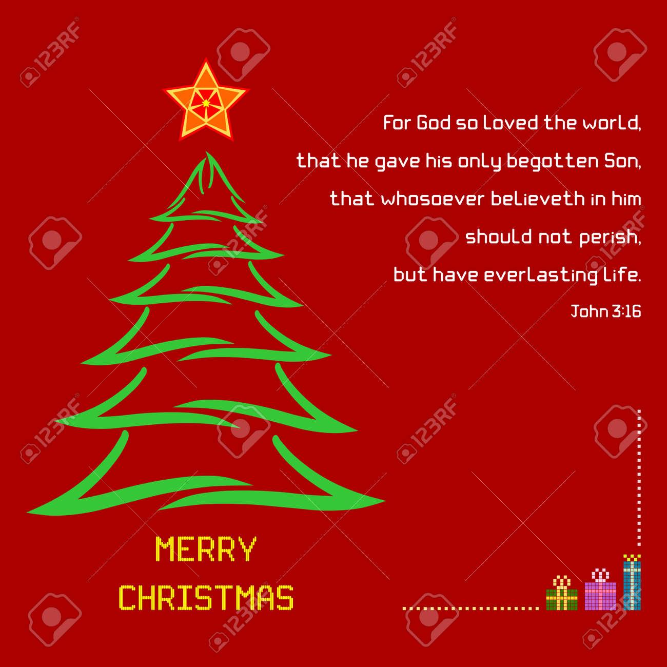 Weihnachten Bibel Vers Johannes 3:16 - Ein Weihnachtsgruß Mit ...