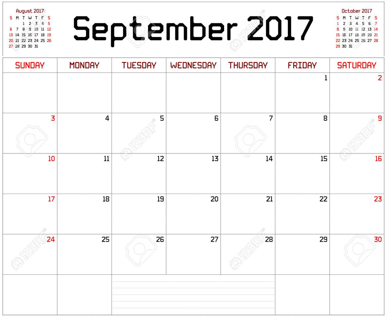 year 2017 september planner a monthly planner calendar for