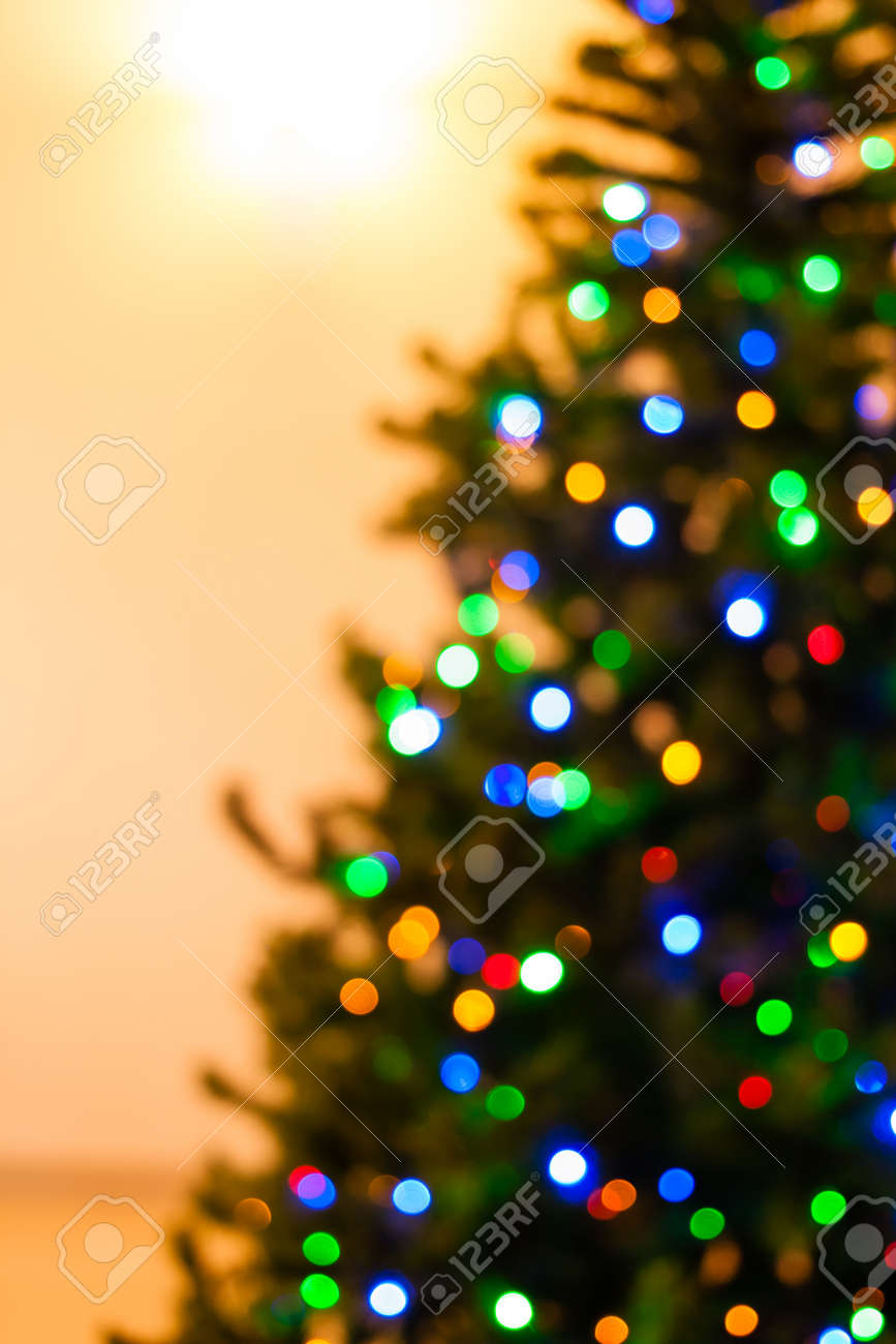 new concept c5ae6 cfc06 Colorful Christmas tree lights bokeh - A bright multicolor bokeh..