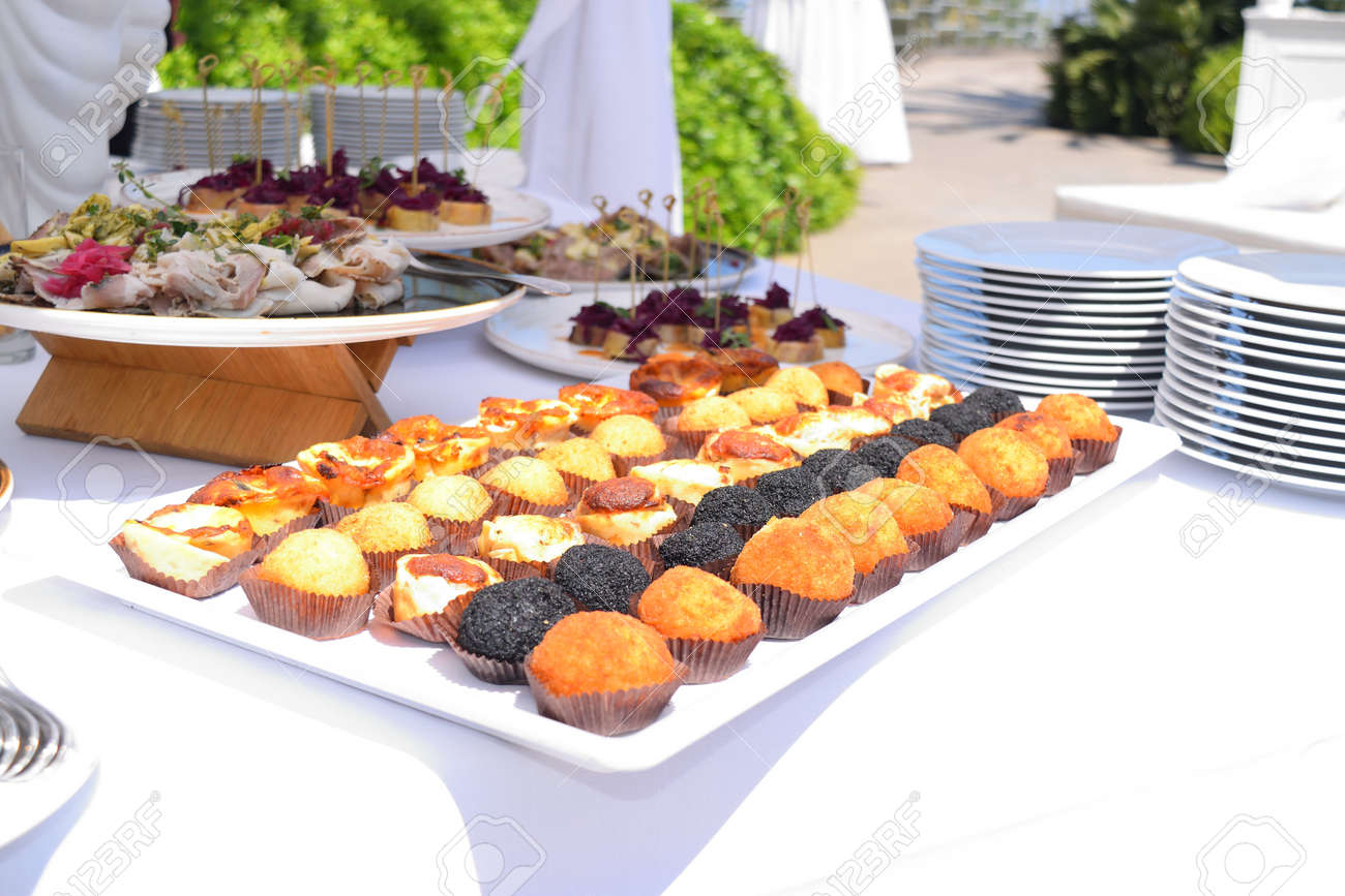 dish with arancini and other typical Sicilian snacks - 133437104