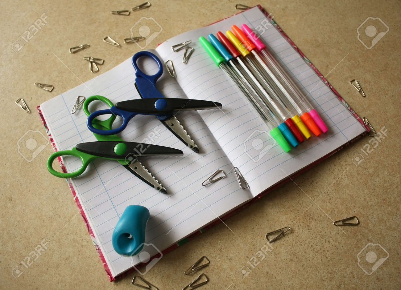 Color office tools Stock Photo - 17984182