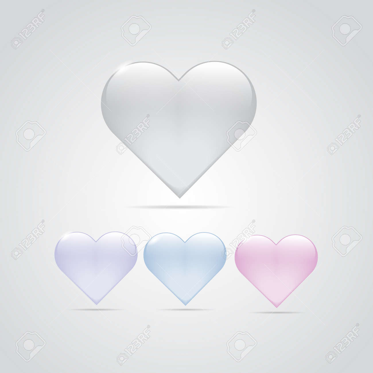 Glossy Glass Heart Symbol Of Love Romance Relation Icon Abstract