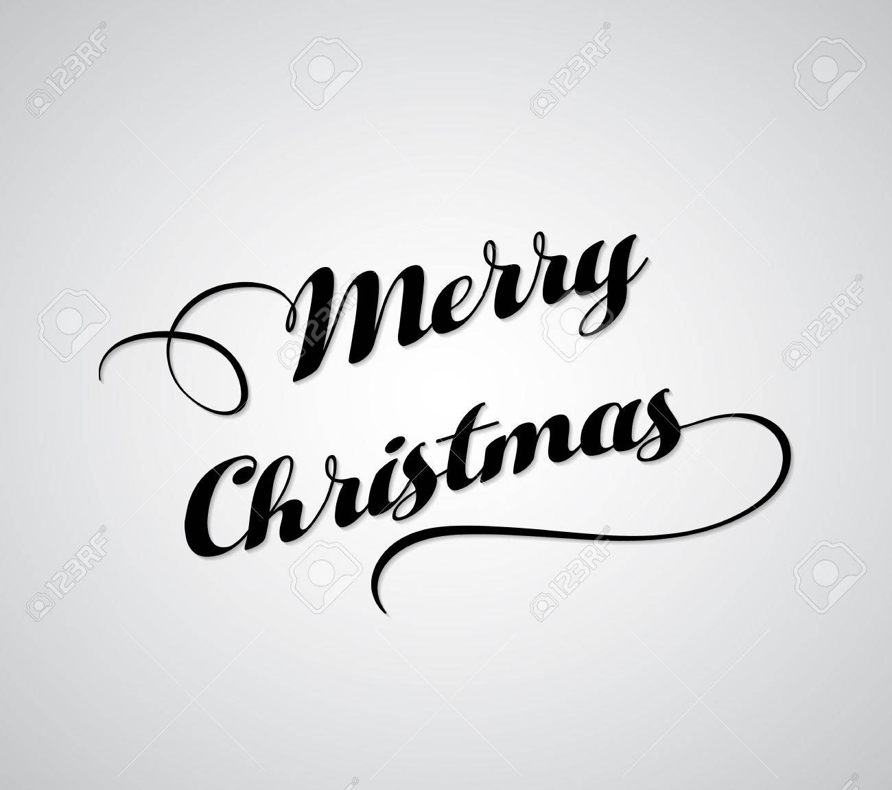 Merry Christmas Greeting Card Merry Christmas Black Letters Royalty