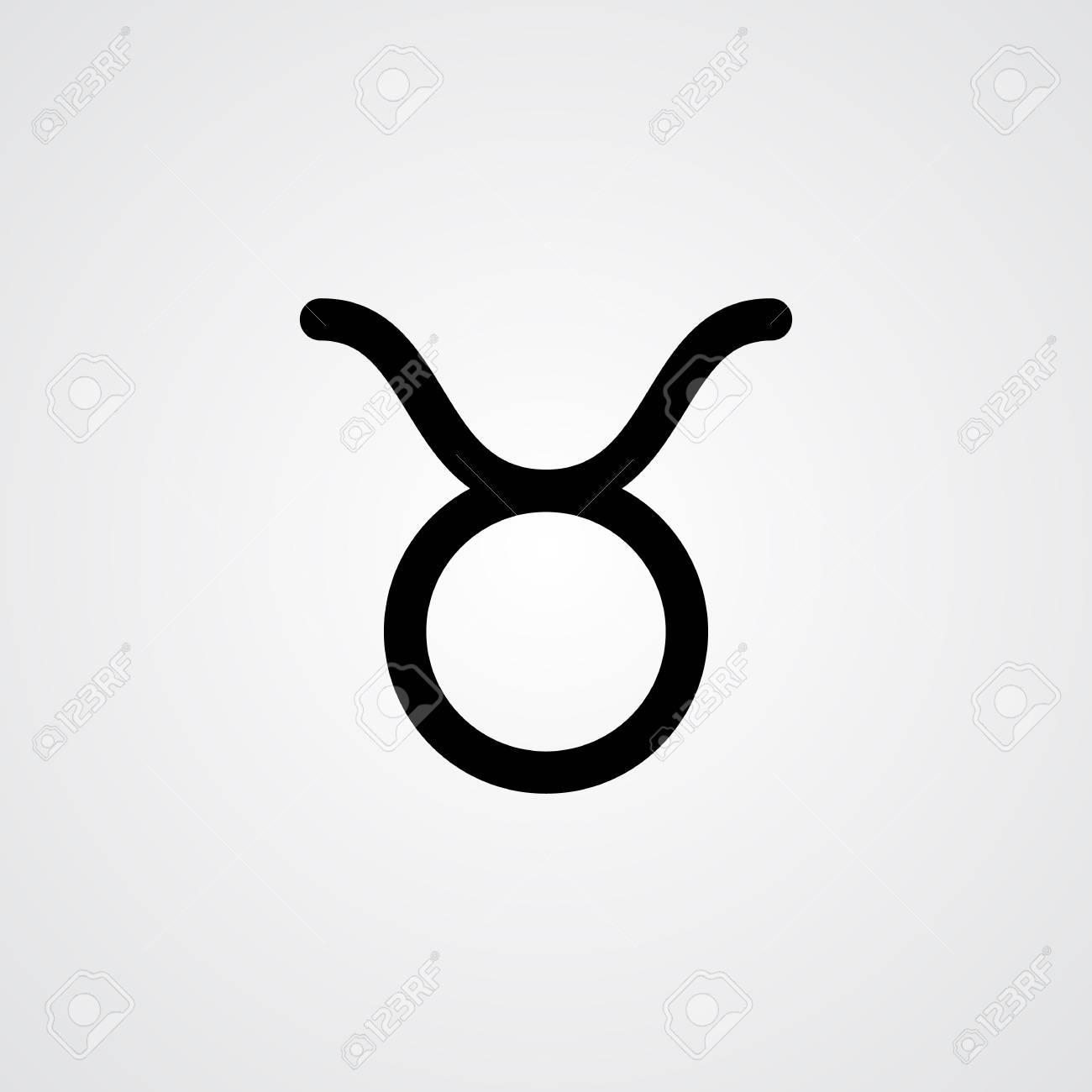 Taurus horoscope symbol.