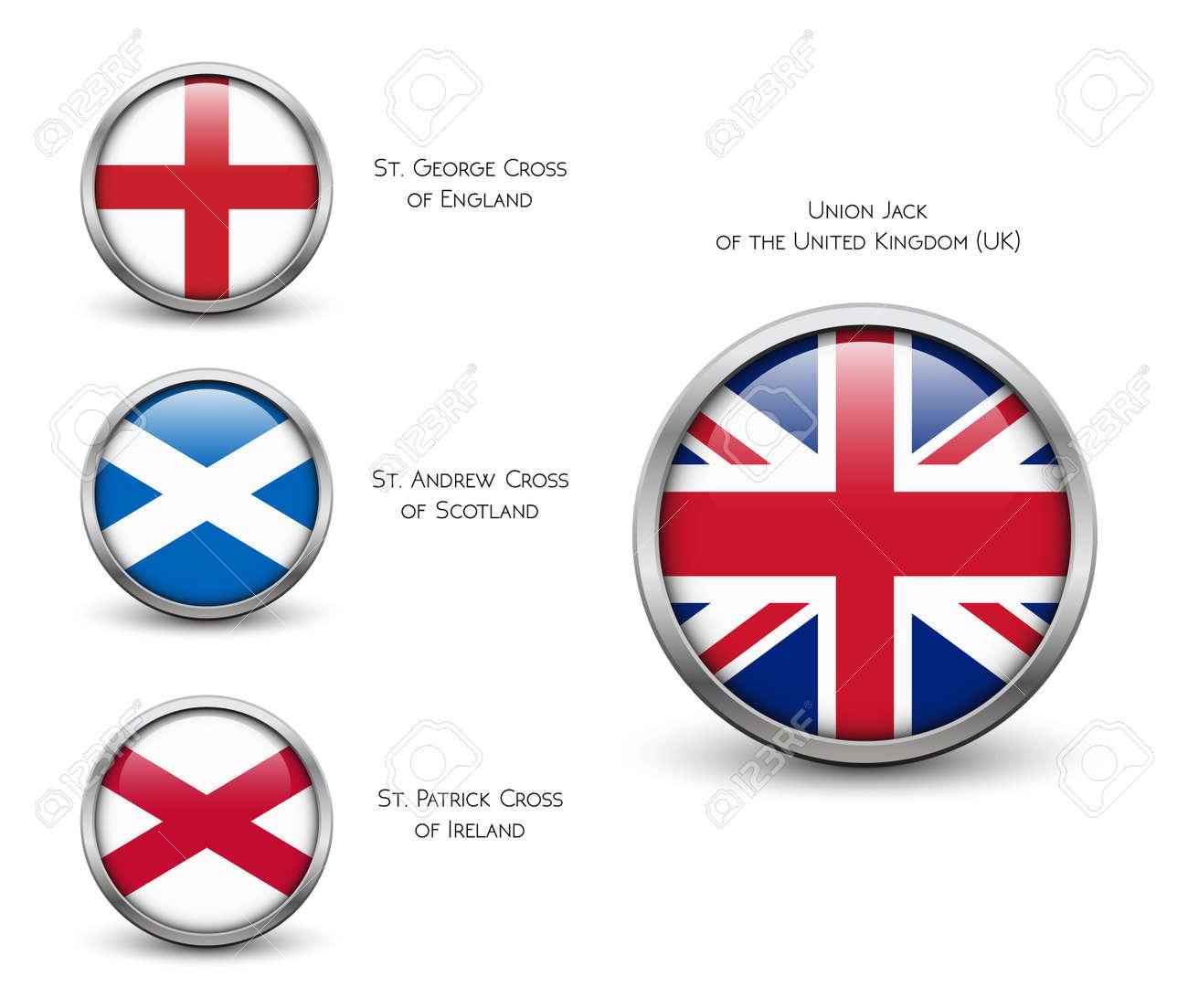 Vereinigtes Königreich Flagge - England, Schottland, Irland, Union ...