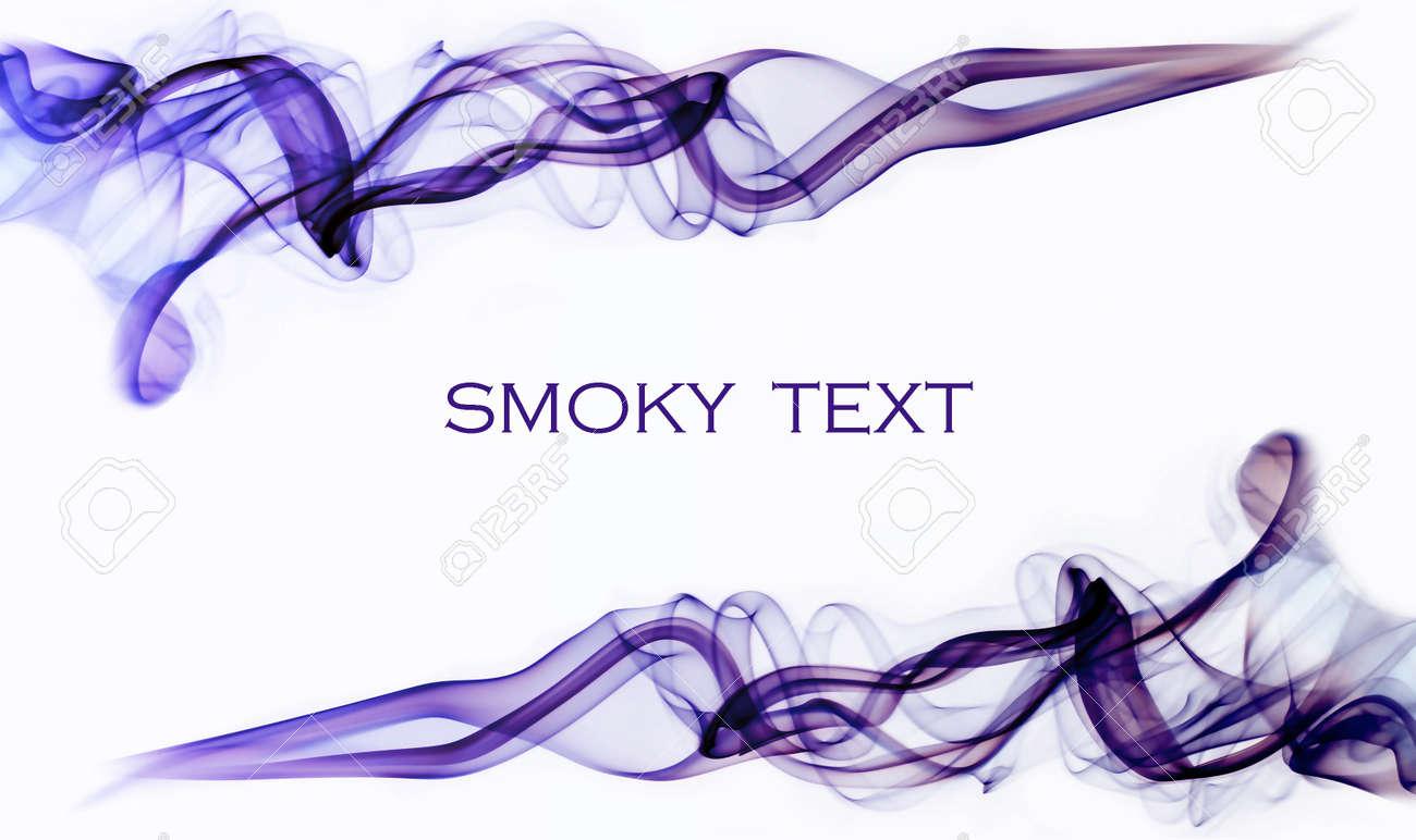 Purple smoky swirls on a white background Stock Photo - 12071386