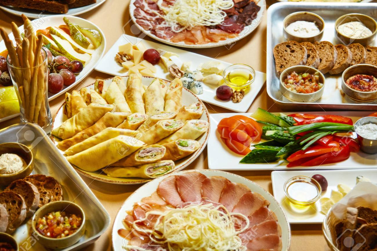 Tremendous A Lot Of Delicious Food On The Table Buffet Feast Download Free Architecture Designs Scobabritishbridgeorg
