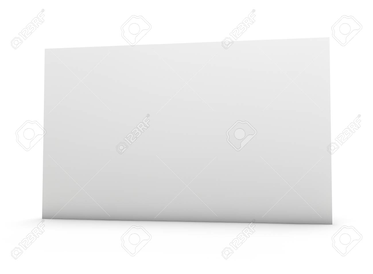Blank Business Card With Fine Paper Texture. Clipping Path Included ...