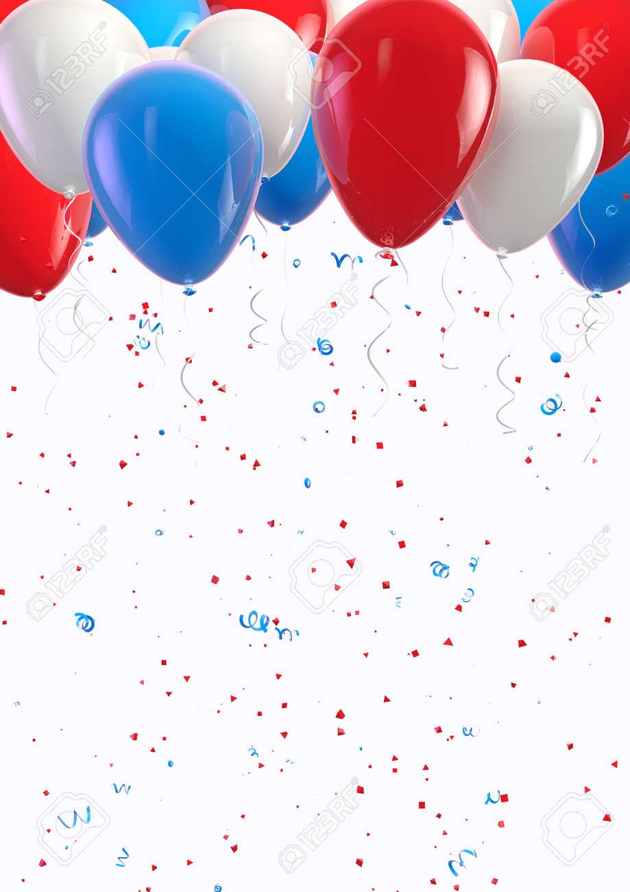 USA balloons and confetti celebration - 24541987