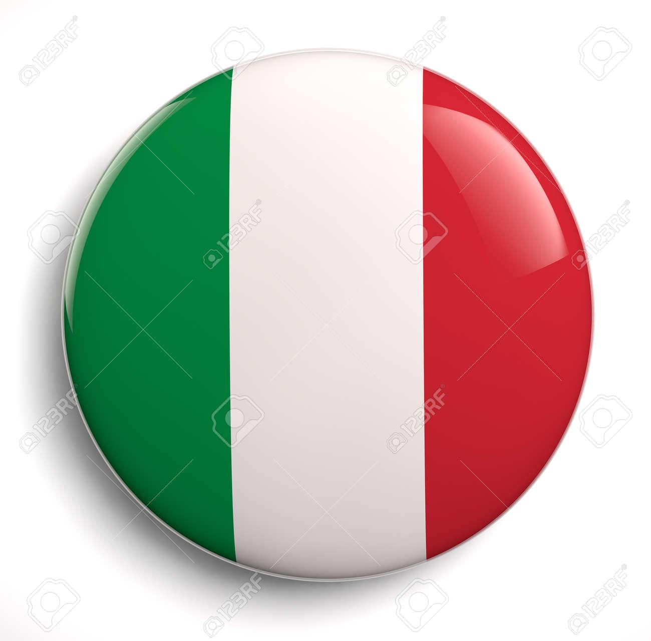 Italian flag design icon. - 25914873