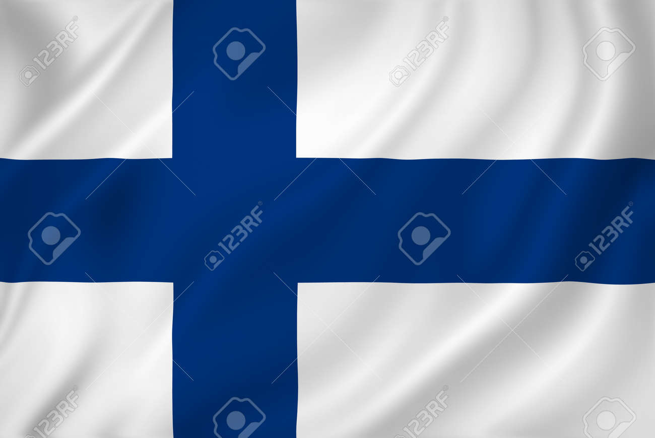 Finland national flag background texture. - 26448521