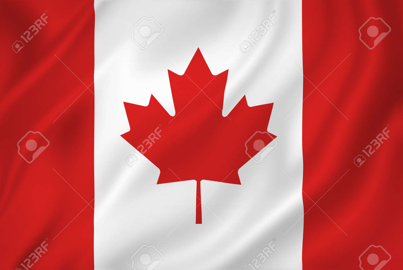 Canada national flag background texture. - 26448677