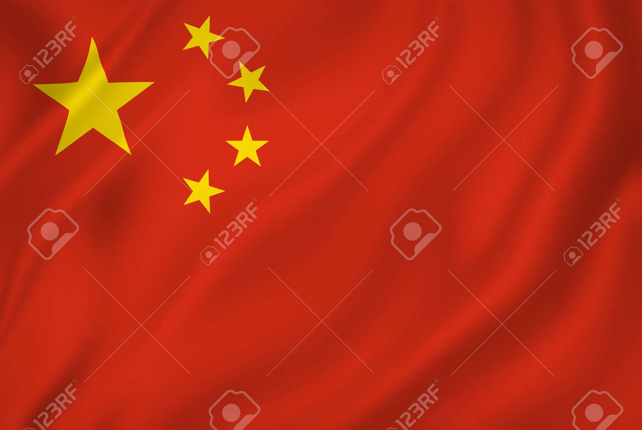 Chinese national flag background texture. - 26448681