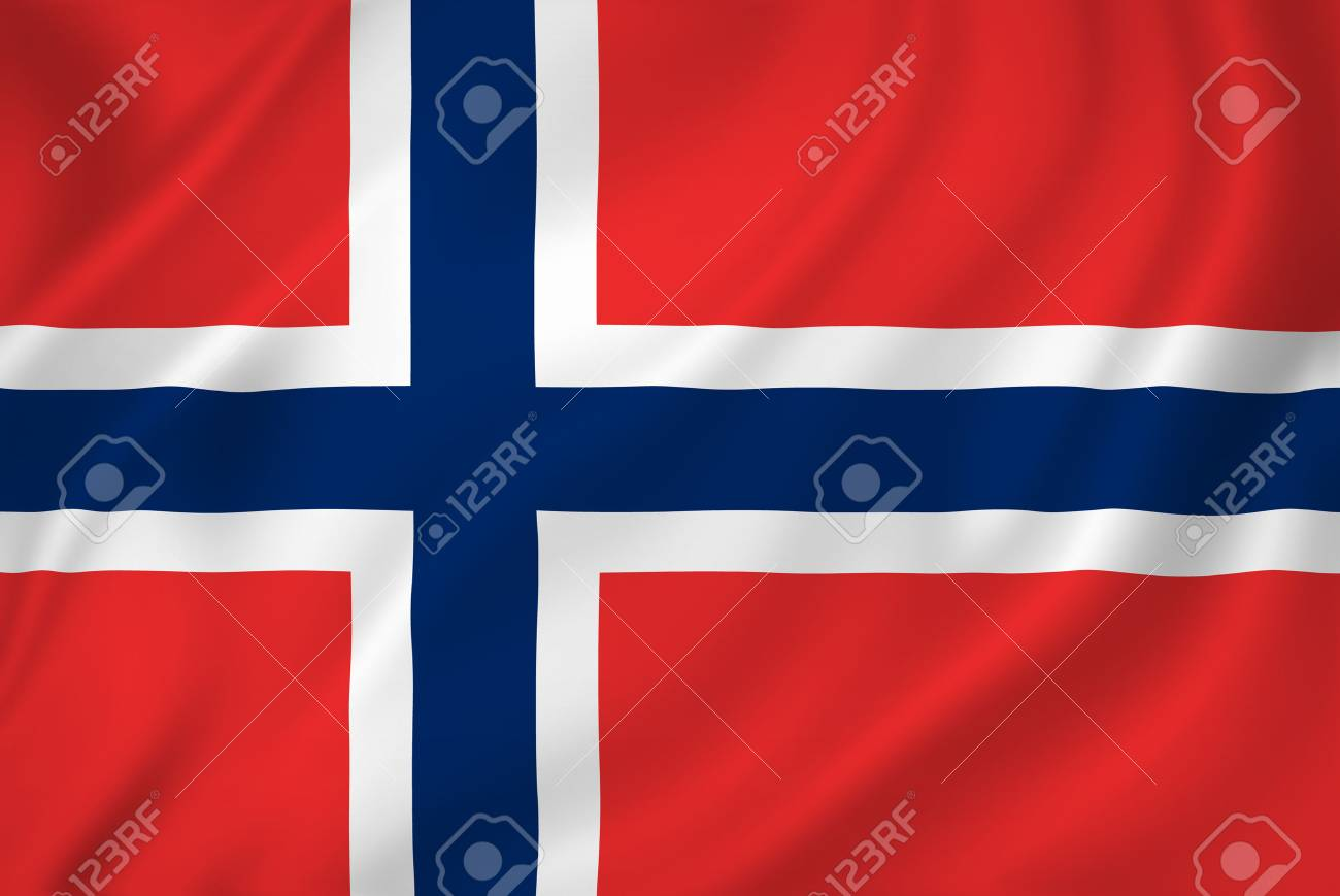 Norway national flag background texture. - 26448916