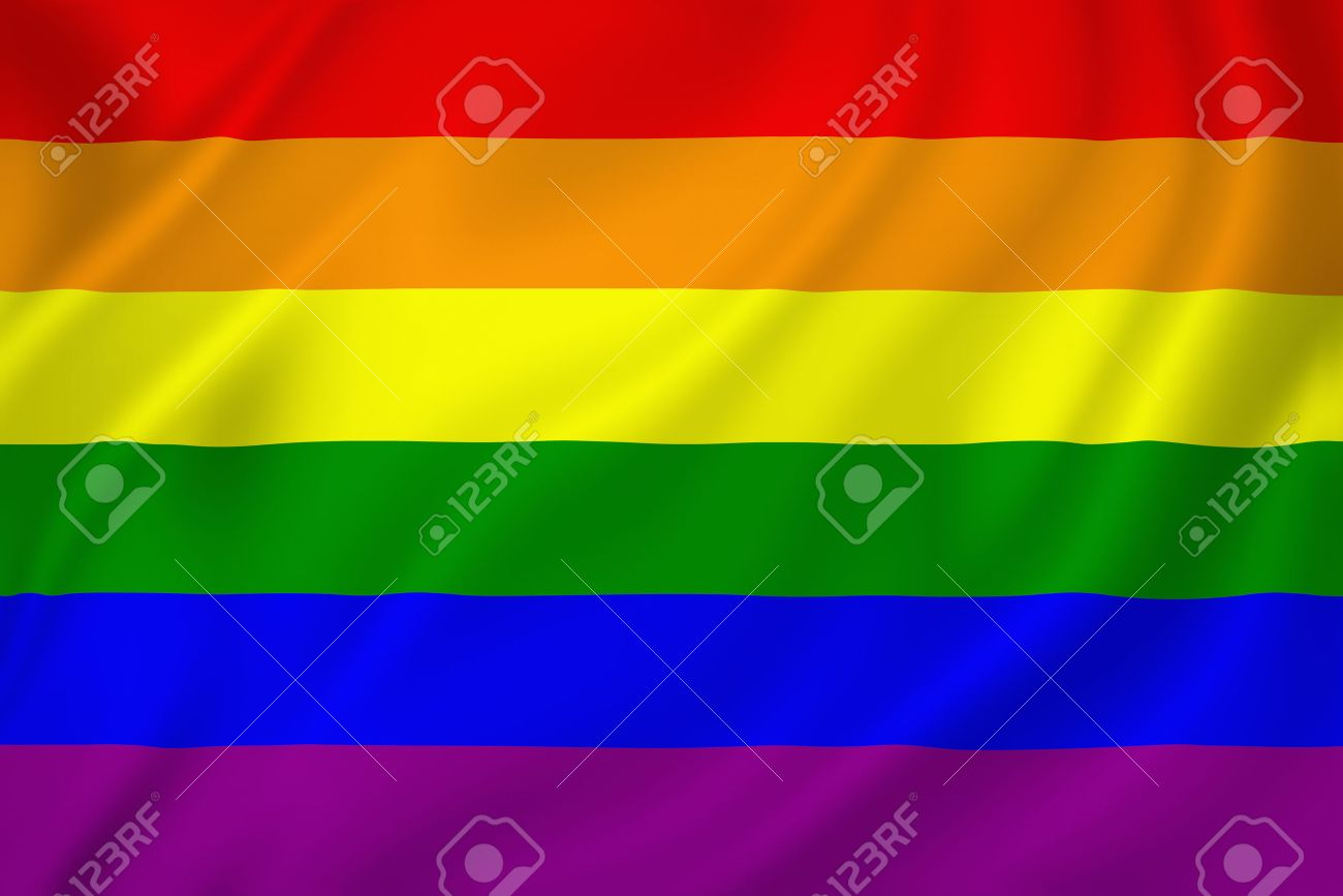 Gay pride flag texture background - 26790310