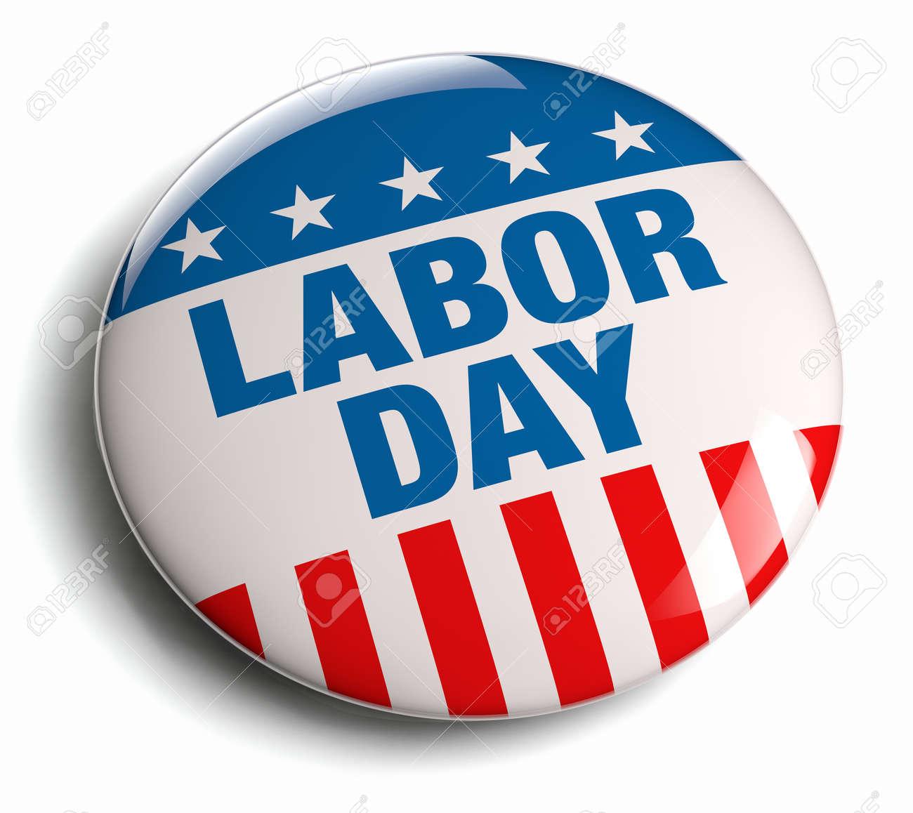 Labor Day USA patriotic icon. - 27545402