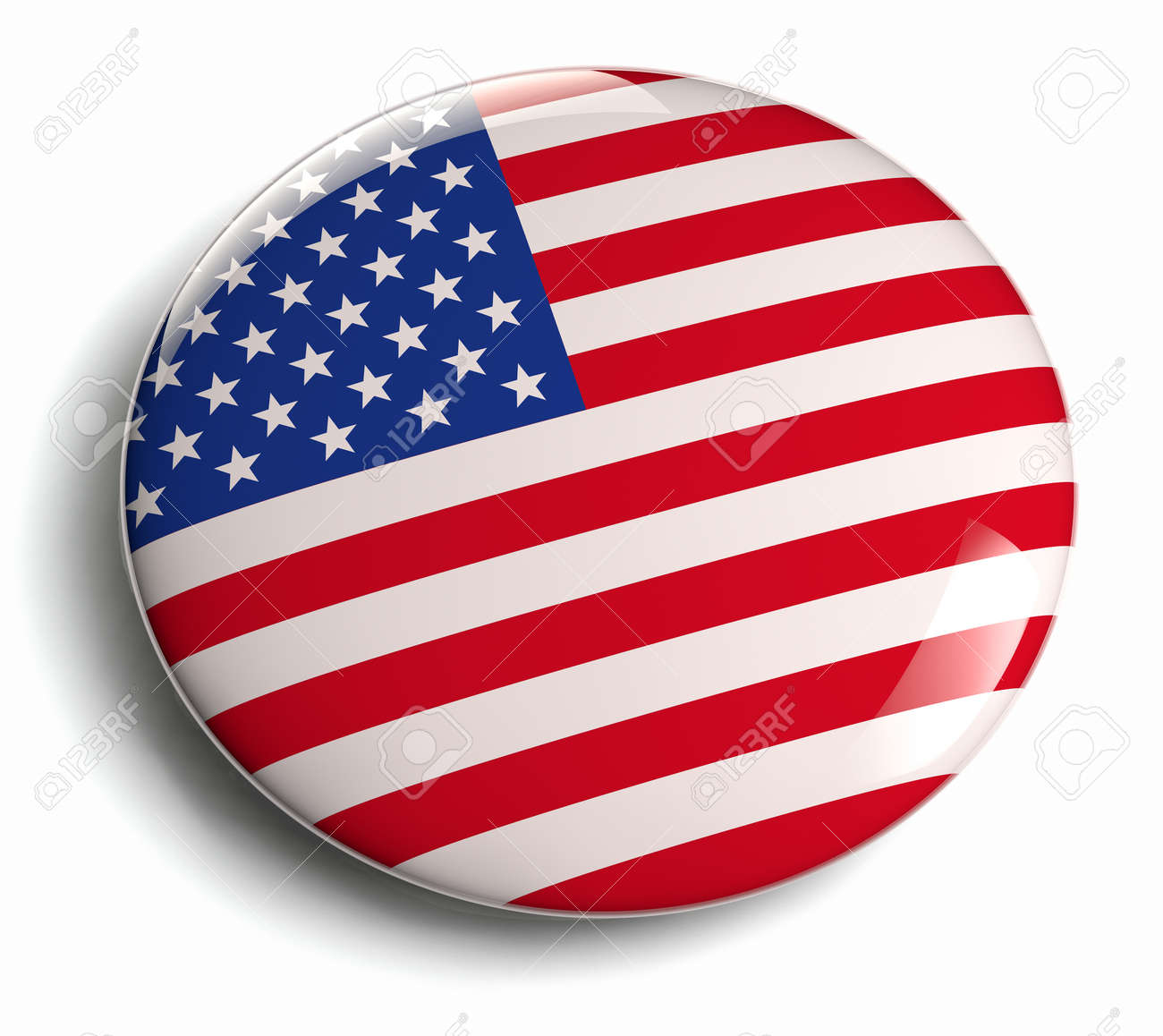 USA flag design icon. Clipping path included. - 27593184