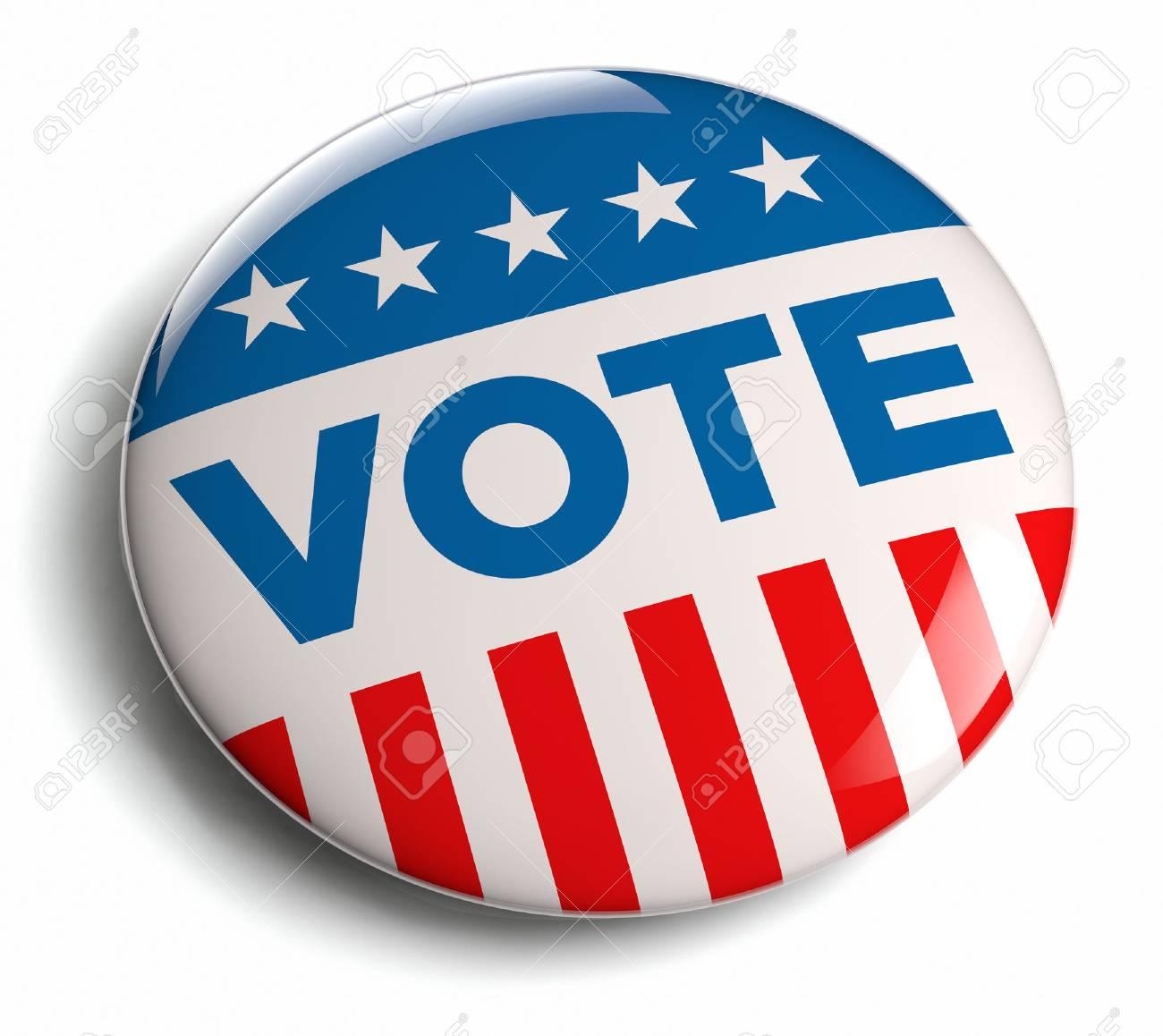 Vote election campaign badge button - 27593269