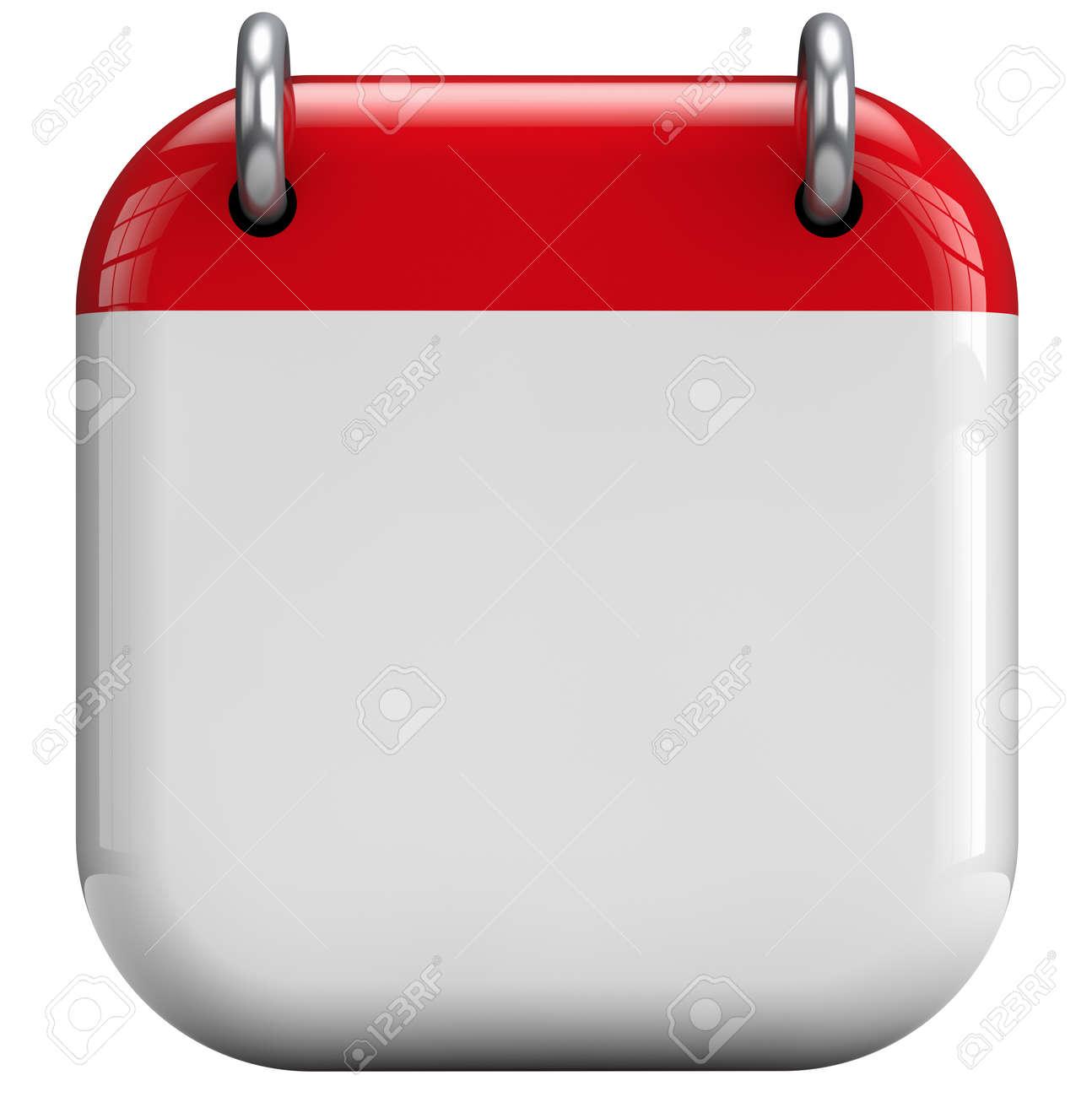 Calendar blank 3D isolated icon. - 32750301