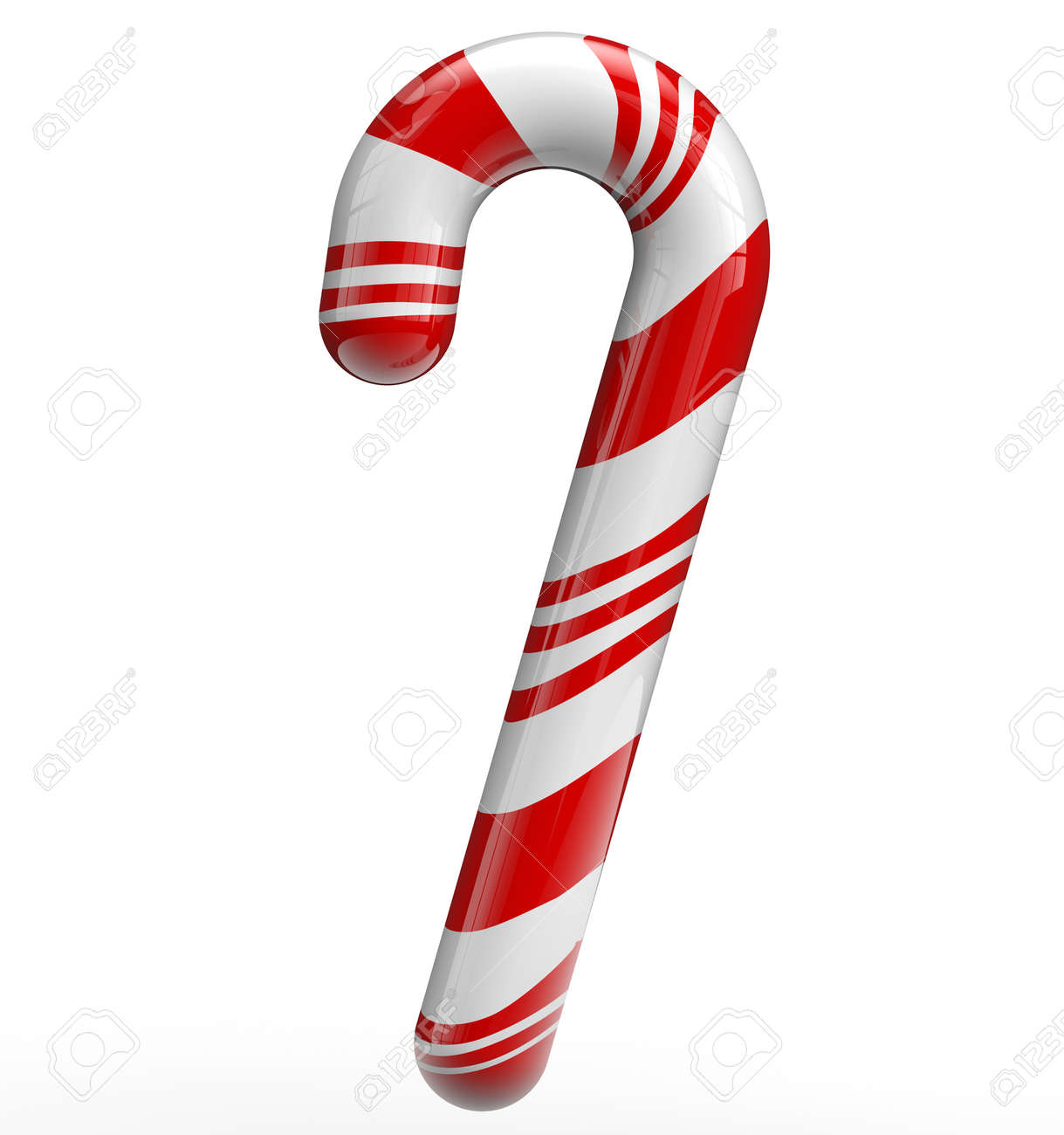 Christmas candy cane isolated on white. - 33143520