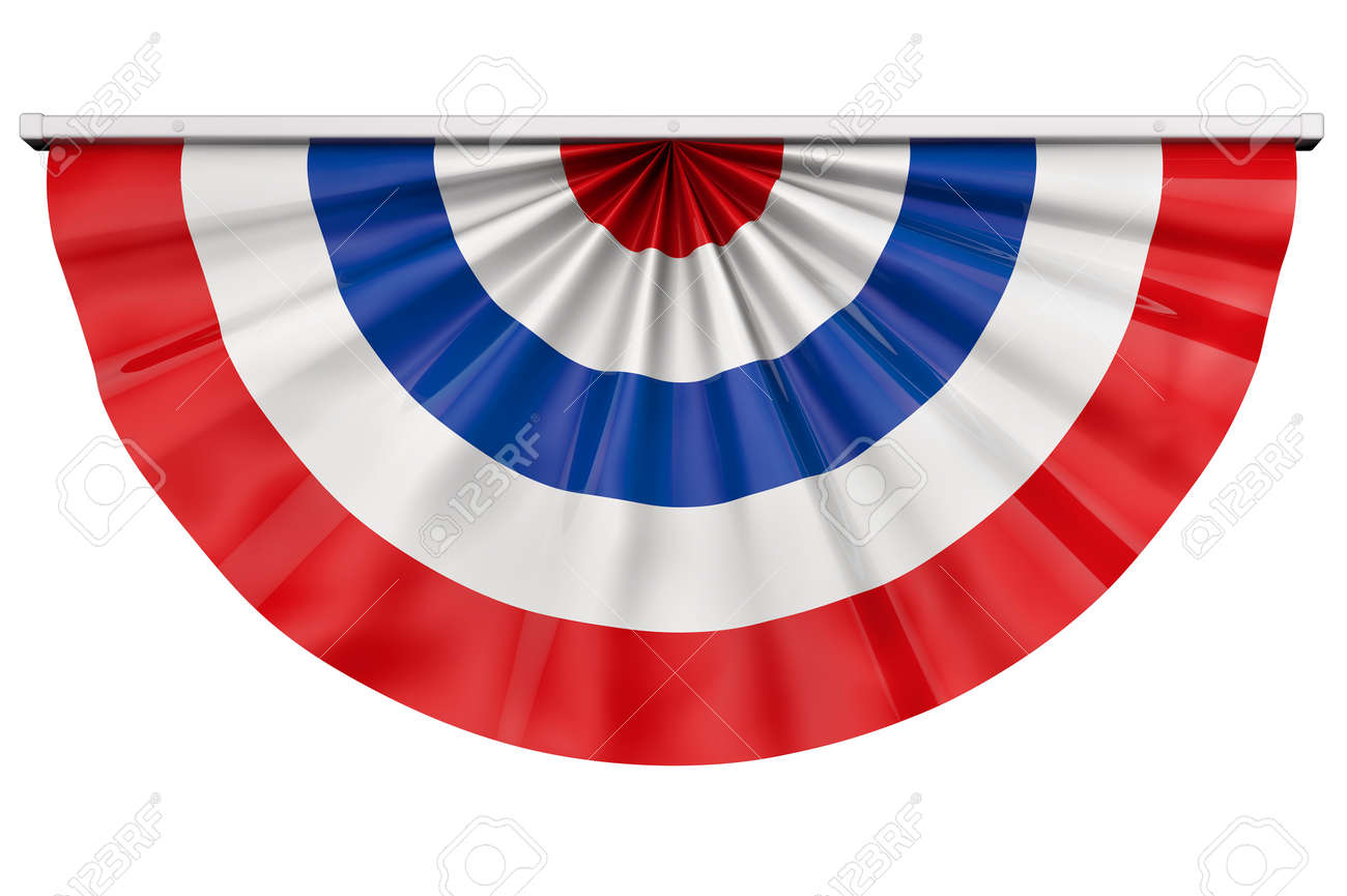 American flag bunting for July 4th or any American celebration. - 33243981