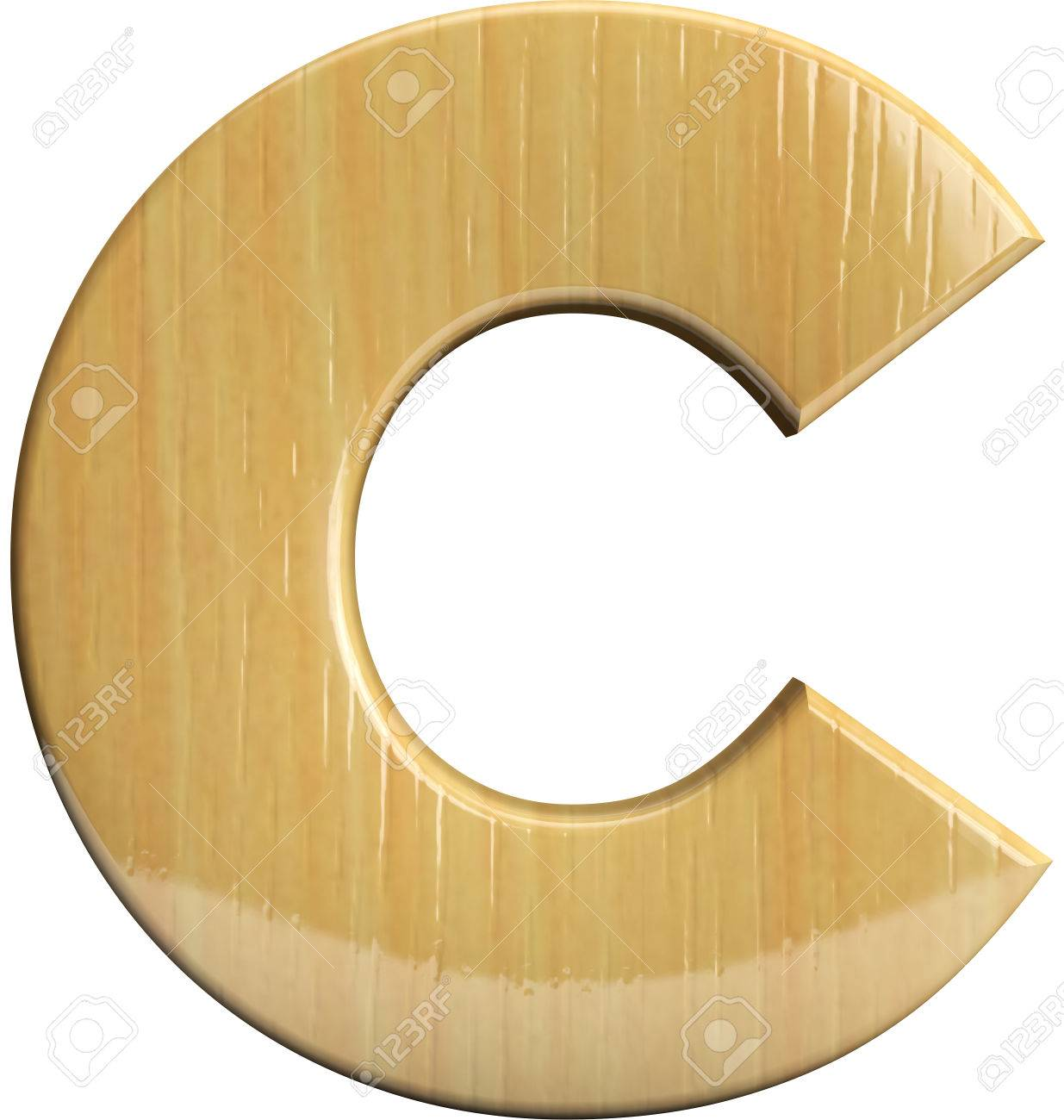 stock photo wooden letter c wood character isolated on white