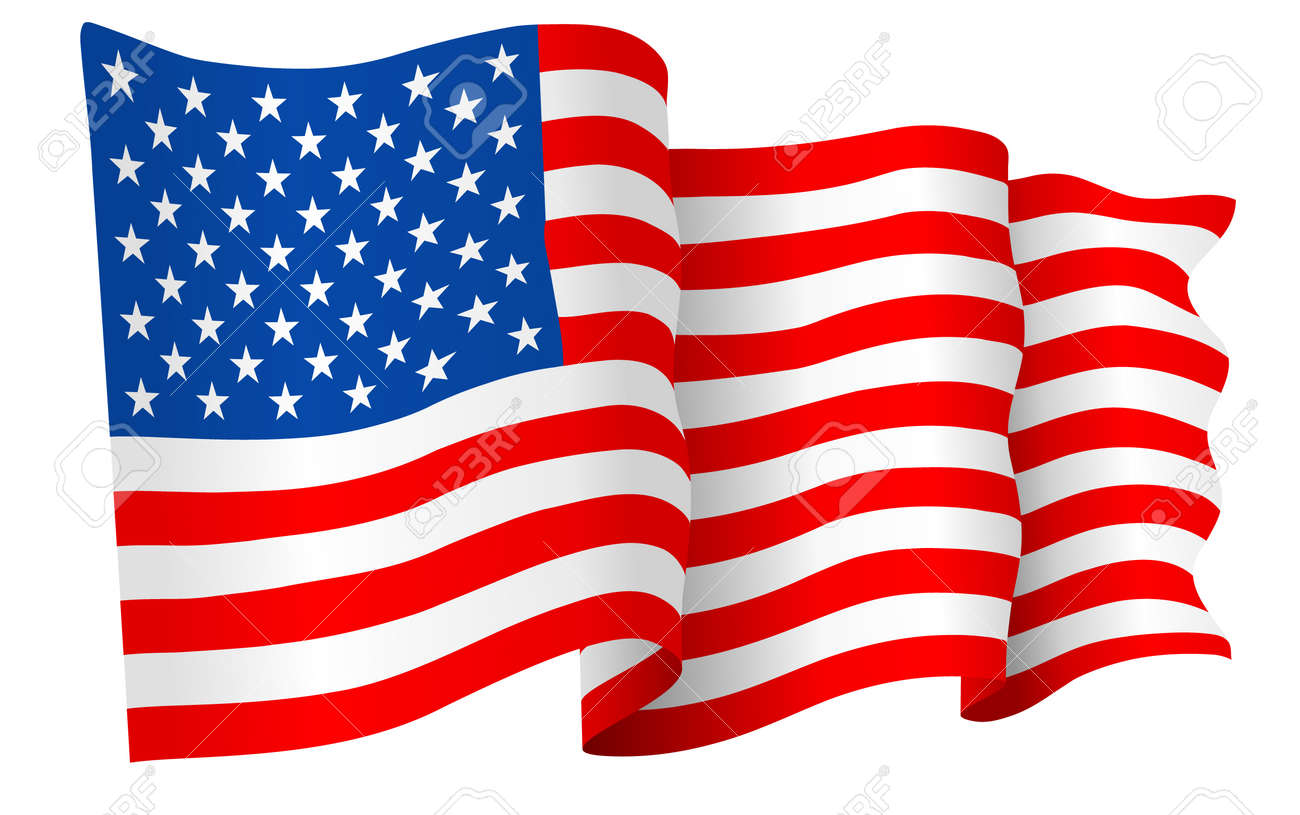 usa american flag vector royalty free cliparts vectors and stock rh 123rf com vector american flag free download vector american flag free download