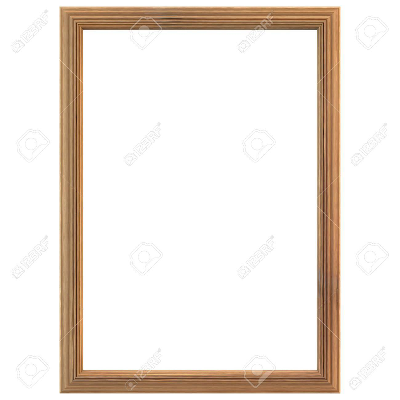 Wooden frame isolated on white background. Clipping path included. - 46667772